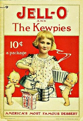 Hereare cupids pictured on a 1915 booklet with the jell o girl